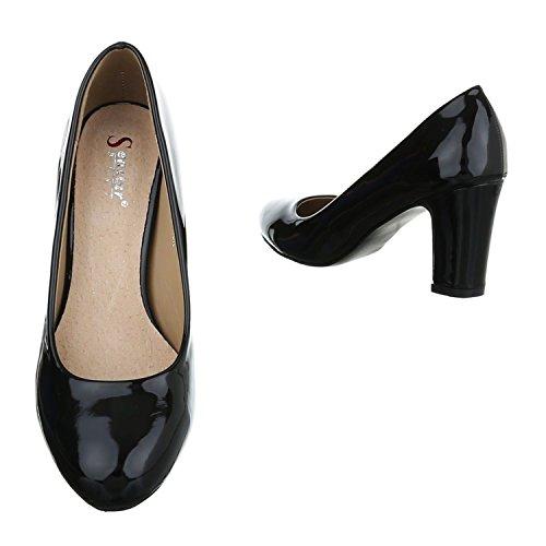 Klassische Party Abend Damen Hochzeit Kay Stilettos Schwarz Schuhe Pumps 1n1gwqrU
