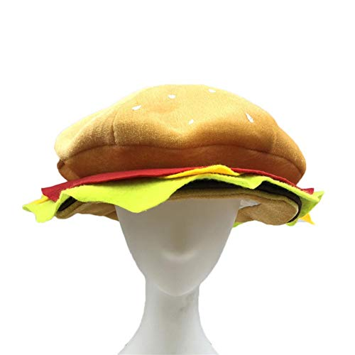 Dough.Q Hut Cheeseburger Hat Headwear - Essen Hut Burger Hut Halloween Weihnachten Kostüm Party Dress Up Requisiten Hut Für Kinder - Familie Dress Up Kostüm