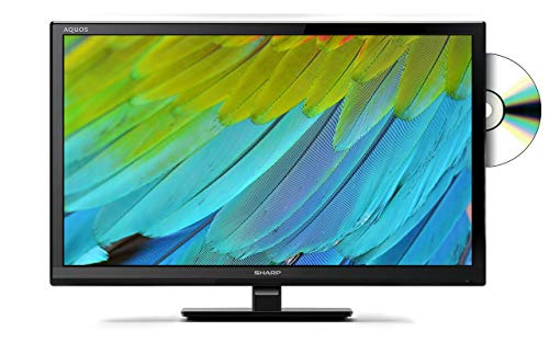 Sharp LC-24DHF4011K 24 Inch HD Ready LED TV with Freeview HD and built-in DVD player - Black (2018 model) (Renewed)
