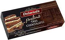 Delaviuda - Turrón Tres Chocolates, 300 g