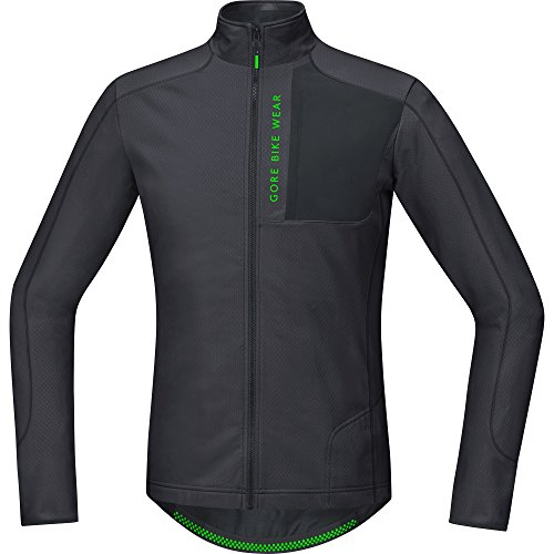 Gore BIKE WEAR Maillot Thermo MTB para Hombre, Selected Fabrics, POWER TRAIL, Talla S, Marrón/Negro, STPOWT