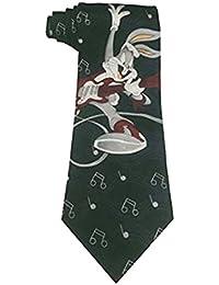 Herren 100 % Seide Häschen Music Theme Modische Krawatte(Bunny Music Tie)