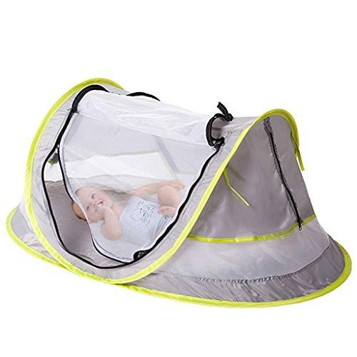xinxinyu Babyzelt Faltbett, Reisebett Zelt Travel-cot   Baby Pop Up Travel Cot Bed Tent Mosquito Net Pillow Mesh Bag   Strandmuschel Krippen Moskitonetz Baby Infant Beach Zelt (Grün)