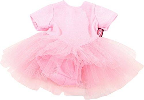 uppenbekleidung Balletanzug Gr. S - Dress für die kleinsten Ballerinas - rosanes Balletkleidchen für Babypuppen von 30 - 33 cm (Kleine Mädchen-mode-boutique)