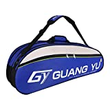 YJZQ Team 6 - Bolsa para Raquetas de Tenis y bádminton, Azul