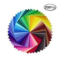 200 Sheets 10 Colors Vivid Colors Single Sided Origami Paper for Arts and Crafts Projects Wiggle Eyes