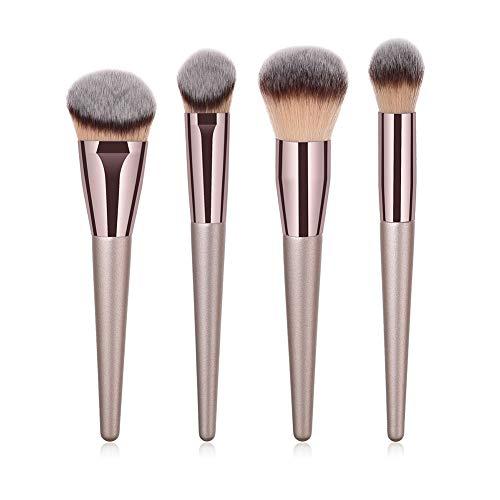 Pinselset Makeup, Grundierungsbürste Gesicht Pinsel 4pcs Puder Pinsel - Weiche natürliche Haare für Kosmetik Puder, Foudation Kosmetik Bürsten (Pinsel Kosmetik Natürliche)