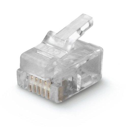 Scame datatel - Clavija aérea plug 4/4 transparente