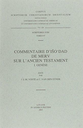 Commentaire D'iso'dad De Merv Sur L'ancien Testament, I. Genese. Syr. 67.