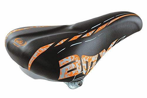 BMX Sattel FAHRRADSATTEL Kinder für 20-24 Zoll Fahrräder von Selle Monte Grappa - Made in Italy Schwarz Orange