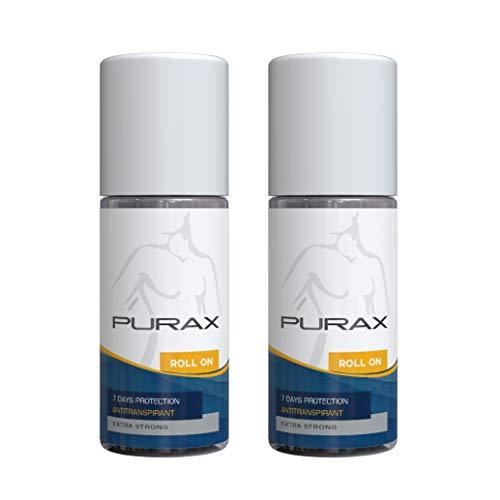 purax double pack anti traspirante roll-on extra strong 50ml - 7 giorni di protezione, 2-pack (2 x 50 ml)
