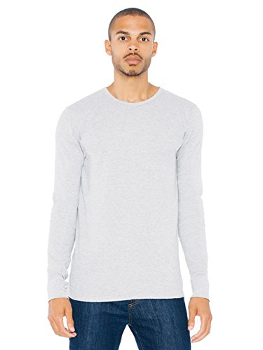 American Apparel Baby Thermal Long Sleeve T-Shirt - Heather Grey / XL -