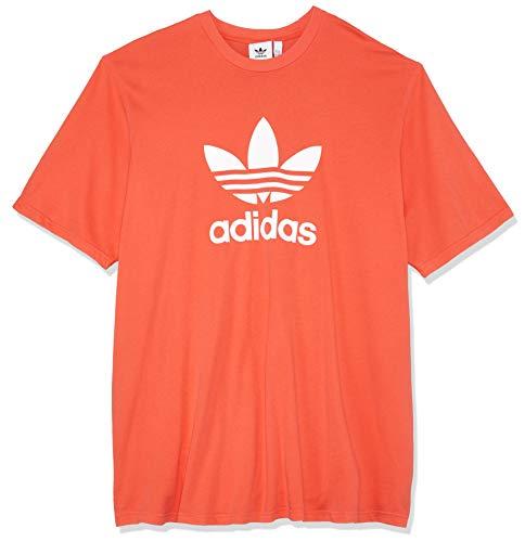adidas Herren Trefoil T-Shirt, rot (Bright Red), M (Adidas Rot Polo-shirt)