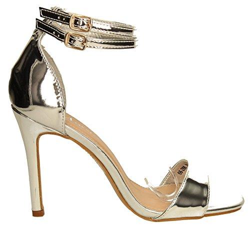 SwankySwans - Stilettos donna Silver