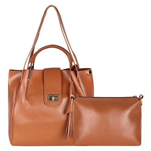 Don Cavalli Women's PU Leather Handbag (Tan)