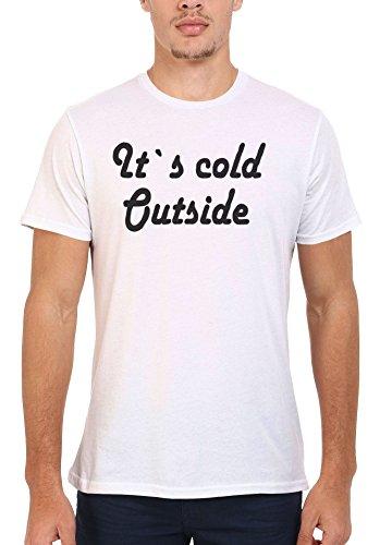 It`s Cold Outside Winter Cool Men Women Damen Herren Unisex Top T Shirt .Weiß
