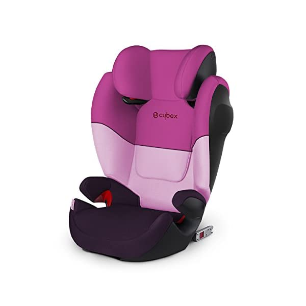 CYBEX Silver Solution M-Fix SL Child's Car Seat, for Cars with and Without ISOFIX, Group 2/3 (15-36 kg), from Approx. 3 to Approx. 12 Years, Purple Rain  Sturdy and high-quality child car seat for long-term use - For children aged approx. 3 to approx. 12 years (15-36 kg), Suitable for cars with and without ISOFIX Maximum safety - Built-in side impact protection (L.S.P. System), Energy-absorbing shell 12-way adjustable, comfortable headrest, Adjustable backrest, Ventilation system 1
