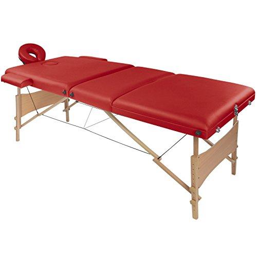 BB Sport Mobile Massageliege VITALAXY 3 Zonen in vielen Farben mit Tragetasche klappbar höhenverstellbar, Farbe:feuer rot