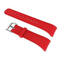 CUTICATE Soft Silicone Wrist Strap Watch Band Belt With Clasp For Gear Fit2 - Red