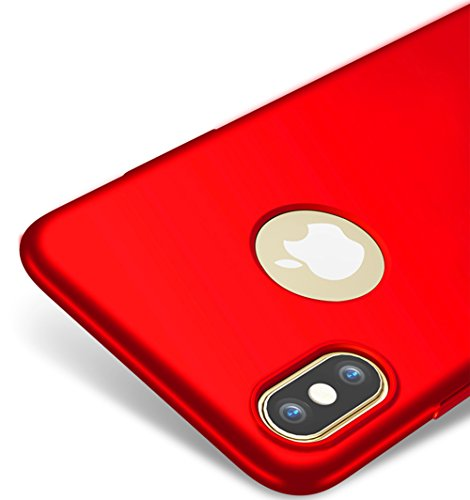 Rosso / red ultra sottile custodia cover case + pellicola protettiva per apple iphone x / iphone 10 vooway® ms70426