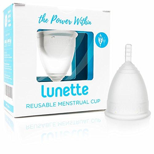 Lunette Menstruationstasse - Klar - Model 2 für normale oder starke Blutung
