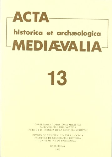 Acta historica et archaeologica mediaevalia 13
