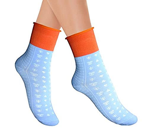 Ladies maternity ankle socks without toe seams generous wide top gentle grip for swelling legs injured feet (UK3.5-5.5/ EU35-38, 1 pair