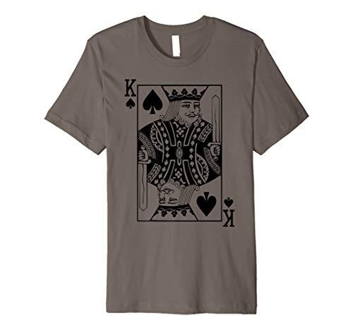 Pik König Kostüm T Shirt Blackjack Spielkarte Geschenk (Edle König Kostüm)