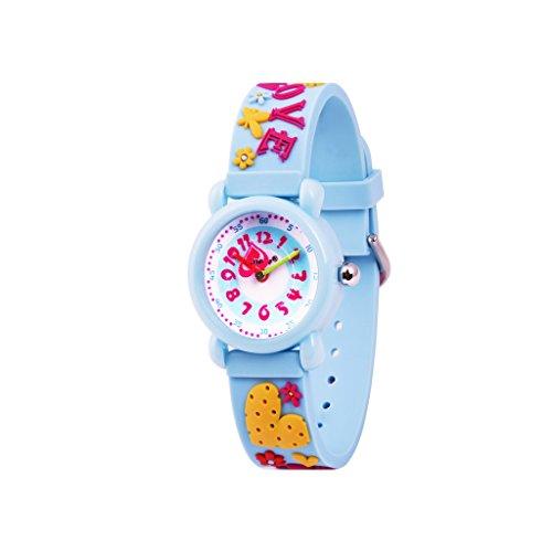 Jugendliche Uhr Analog Quarz mit Plastik Armband 306603 Sweet Heart Armband Blau MEHRWEG ()