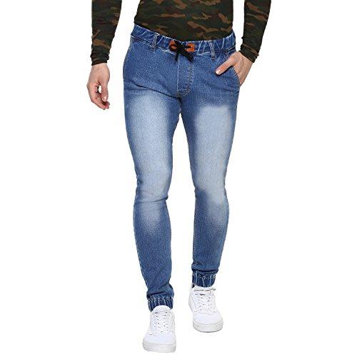 Urbano Fashion Men's Blue Stretchable Slim Fit Jogger Jeans