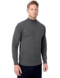 KRISP® Herren Basic Wollpullover Einfarbig Rollkragen