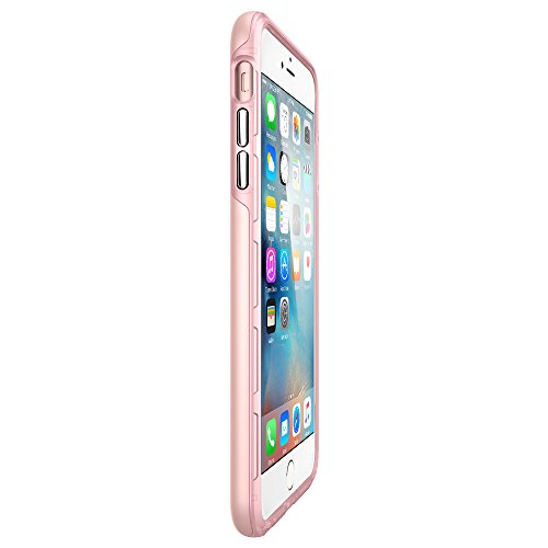 Coque iPhone 6s Plus, Spigen Coque iPhone 6 Plus [Thin Fit Hybrid] Thin Protection [Rose Gold] Rugged Dual Layer Premium Matte Finish Hybrid Hard Coque Pour iPhone 6s Plus (2015) - Rose Gold (SGP11782 TFH Rose Gold