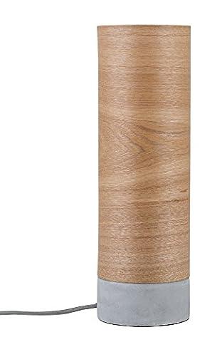 Paulmann 79664 Neordic Skadi Tischleuchte max.1x20W E14 Holz/Grau 230V Holz/Beton (1 Tischleuchte)