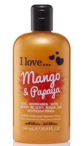 I Love Cosmetics Bain moussant et crème pour la douche Mangue et papaye 500 ml