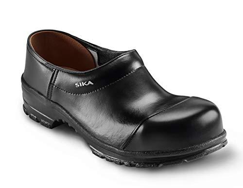 SIKA 29 Comfort Robuster Clog - Breite Passform und Fußbett aus Holz - Besonders Gute Strapazierfähigkeit - Schwarz - Gr. 46