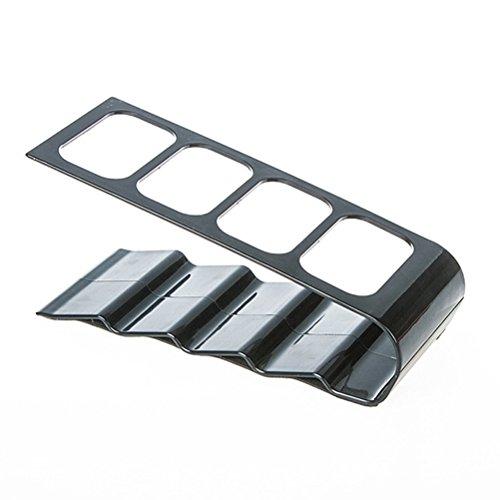 ounona TV Fernbedienung Halterung Lagerung Organizer Caddy Ständer Rack mit 4Fächer schwarz