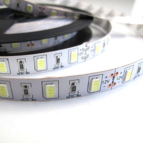 PIXNOR 5M 16.4 ft 12V SMD 300 5630 LEDs tira Flexible luz Blanco LED luz lámpara
