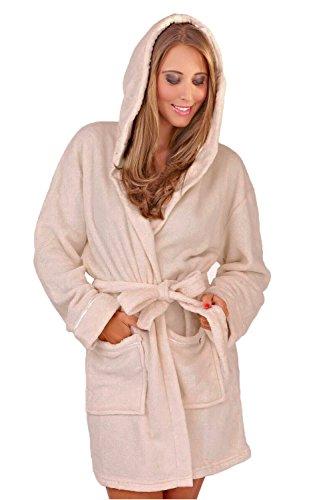 Womens Corail Polaire Super Doux Chaude Costume Capuche - Taupe, Femme, Taille X Large - EU 48-50