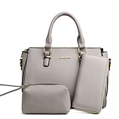 VOLSGEAT Damen Handtasche PU Leder Schulterbeutel Tote-Tasche Handtasche Damen Geldbeutel 3 Beutel Set