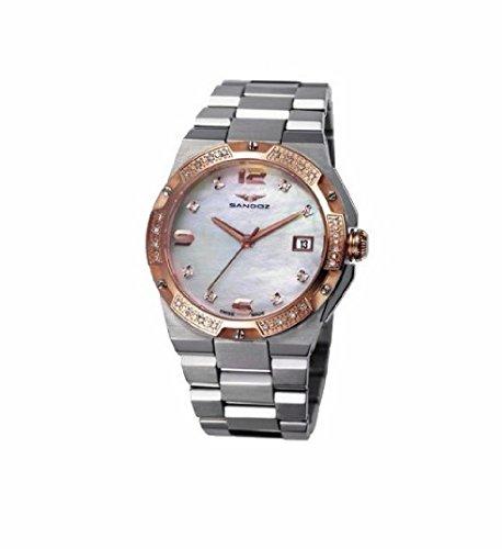 Sandoz 81266-90 Reloj de Mujer Acero Cuarzo Suizo Brazalete Tamaño 34 mm