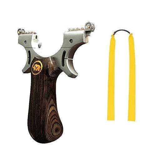 VERY100 Outdoor Stahl Schleuder mit 6 Zielpunkte Steinschleuder Katapult Gummibänder (Kill Zone)