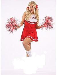 Mix lot Dame-reizvolle nette Cheerleader Kostüme Sport Jubeln Kostüm mit Bommeln Größe S / M / L-XL