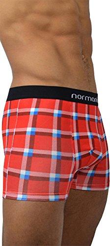 6 x Herren Unterwäsche Boxershorts normani® Boxer Shorts Retro Square Red