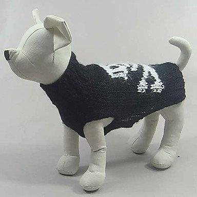 Katze Hund Kostüme Pullover Hundekleidung Cosplay Halloween Totenkopf Motiv Schwarz , schwarz (Gruppe Mann Halloween Kostüme)