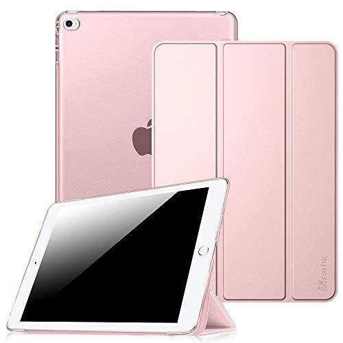 Fintie Hülle für iPad Mini 4 - Ultradünne Superleicht Schutzhülle mit transparenter Rückseite Abdeckung Cover Case Tasche mit Auto Schlaf/Wach und Standfunktion, Roségold