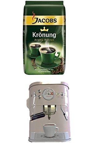 Jacobs Krönung Bohne 500g 1er Pack + Kaffeedose neu 3 D Design weiß