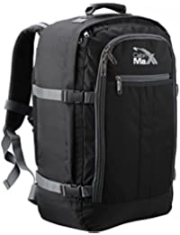 """Cabin Max Metz Backpack Flight Approved Carry On Bag 44 Liter - 22""""x16""""x8"""" (Black/Grey)"""