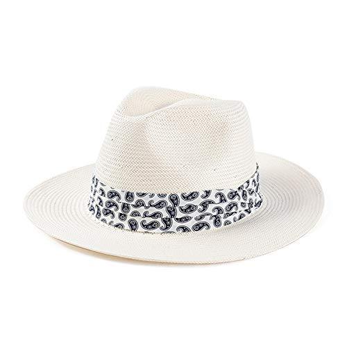 7f899c56b GAOXUQIANG Panama Hat Sun Hats for Women Men Wide Brim Fedora Straw Summer  Beach Hat UV UPF 50