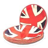 16 Stück Union Jack-Flagge Pappteller Party-BBQ-Grill-Buffet Einweg