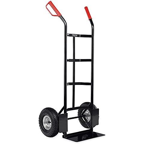 stagecap Mountain Carry Boy carrello (carrello di trasporto, impilabile Trolley, Cornice di metallo stabile, aria pneumatici con ca. 27cm diametro, sicurezza robusta maniglia, portata fino a 200kg, colore: nero